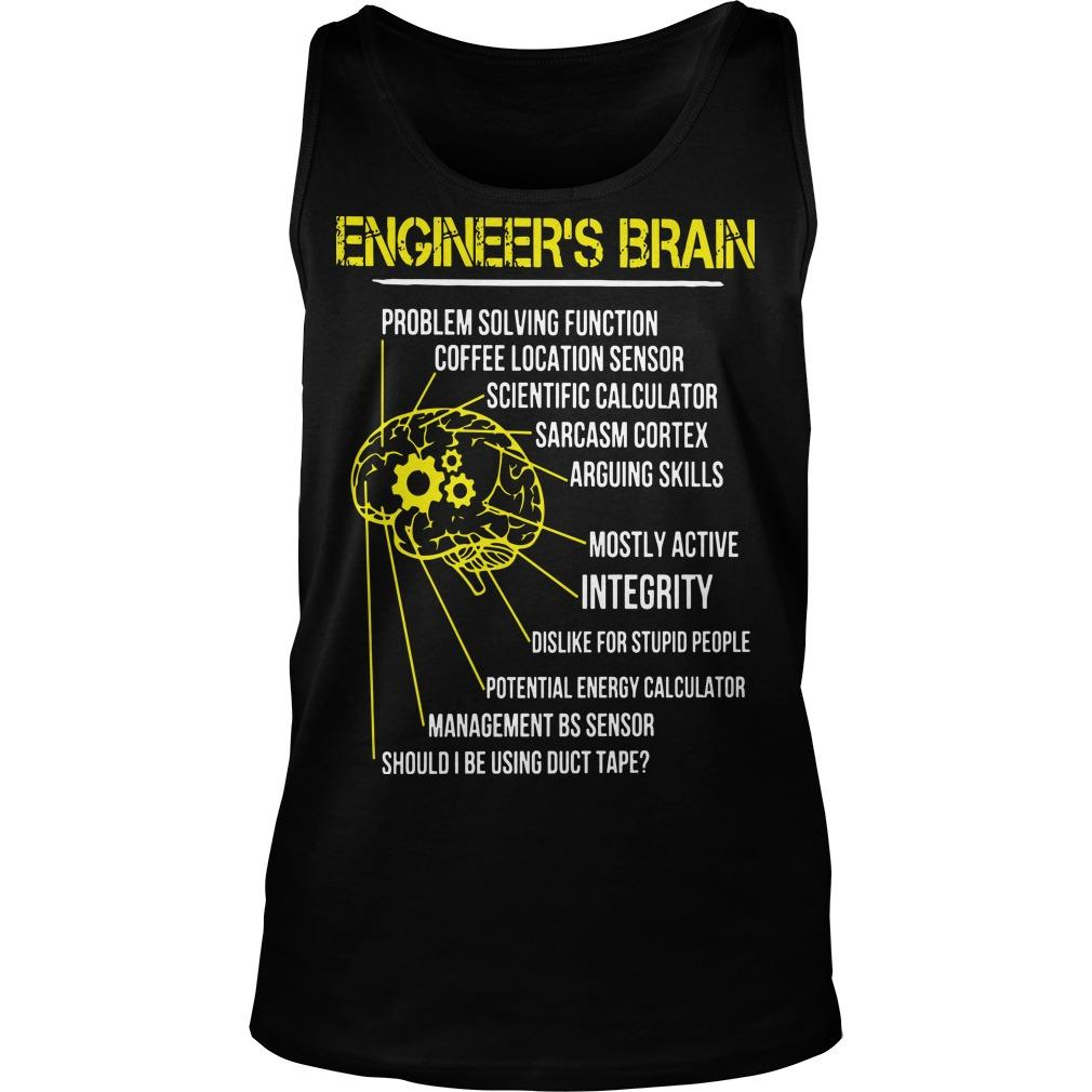 Engineer's Brain Problem Solving Function Coffee Location Sensor Tank Top