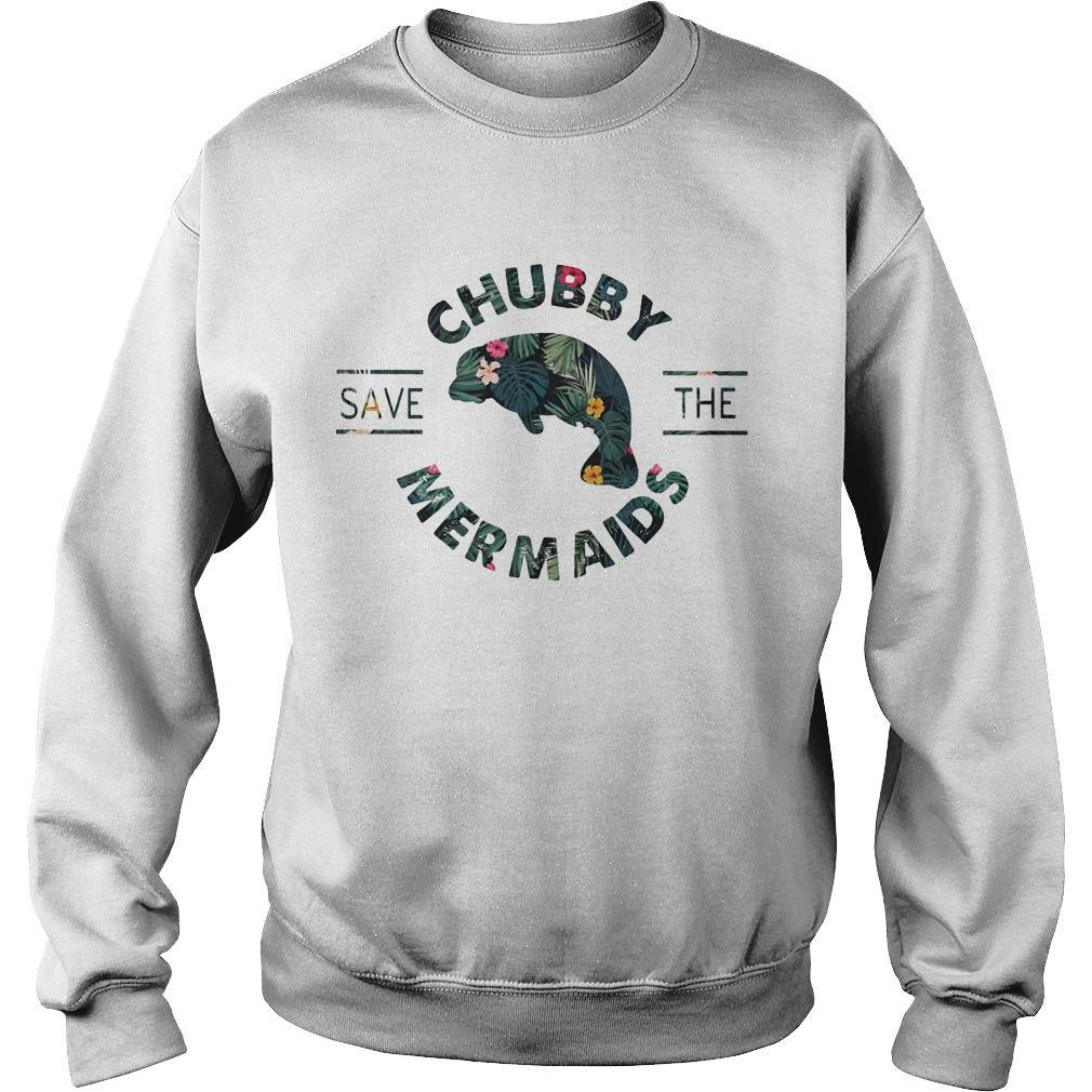 Floral Save The Chubby Mermaids Sweater
