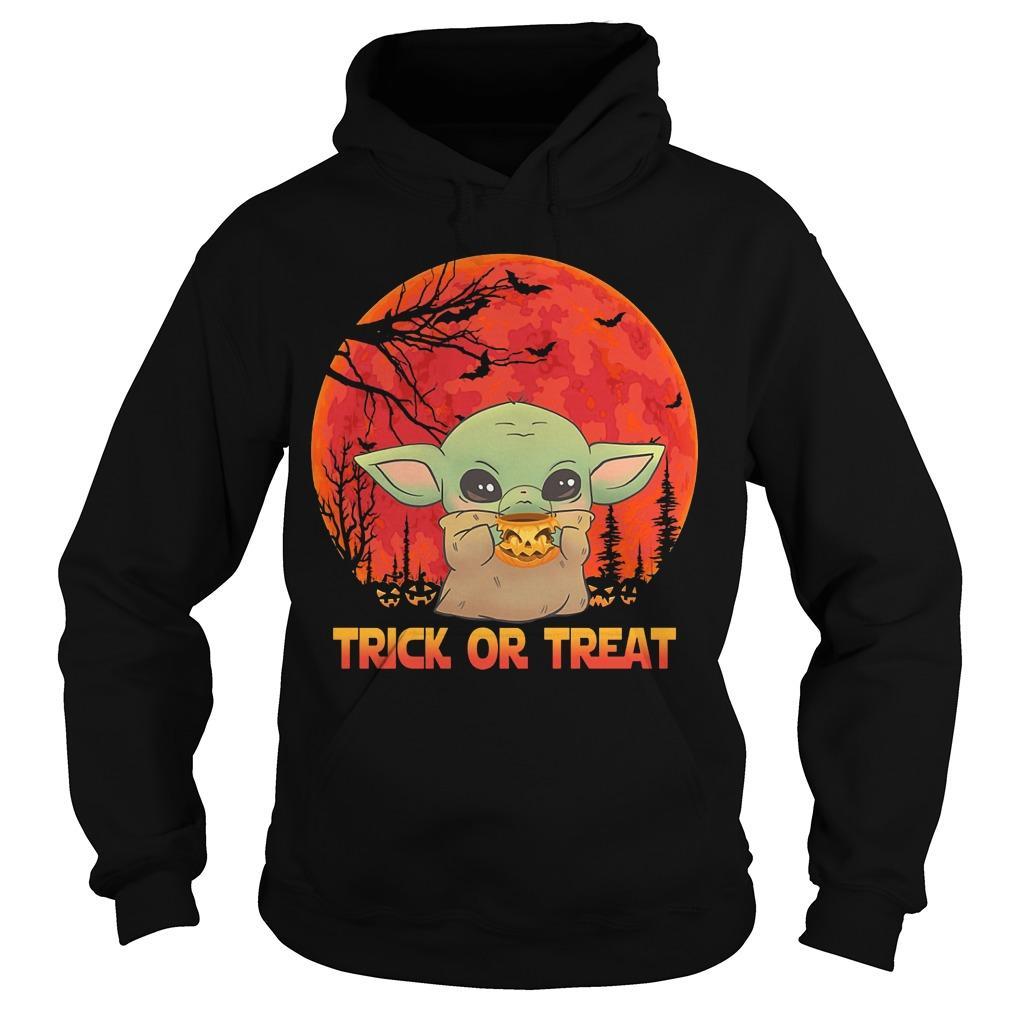 Halloween Baby Yoda Trick Or Treat Hoodie