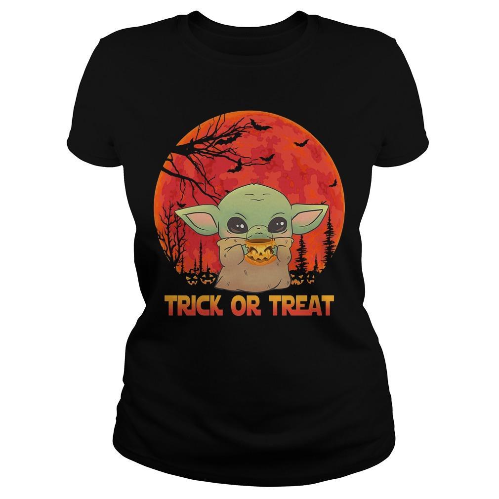 Halloween Baby Yoda Trick Or Treat Longsleeve