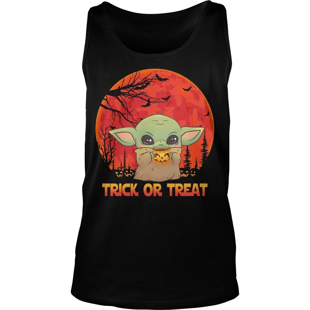Halloween Baby Yoda Trick Or Treat Tank Top