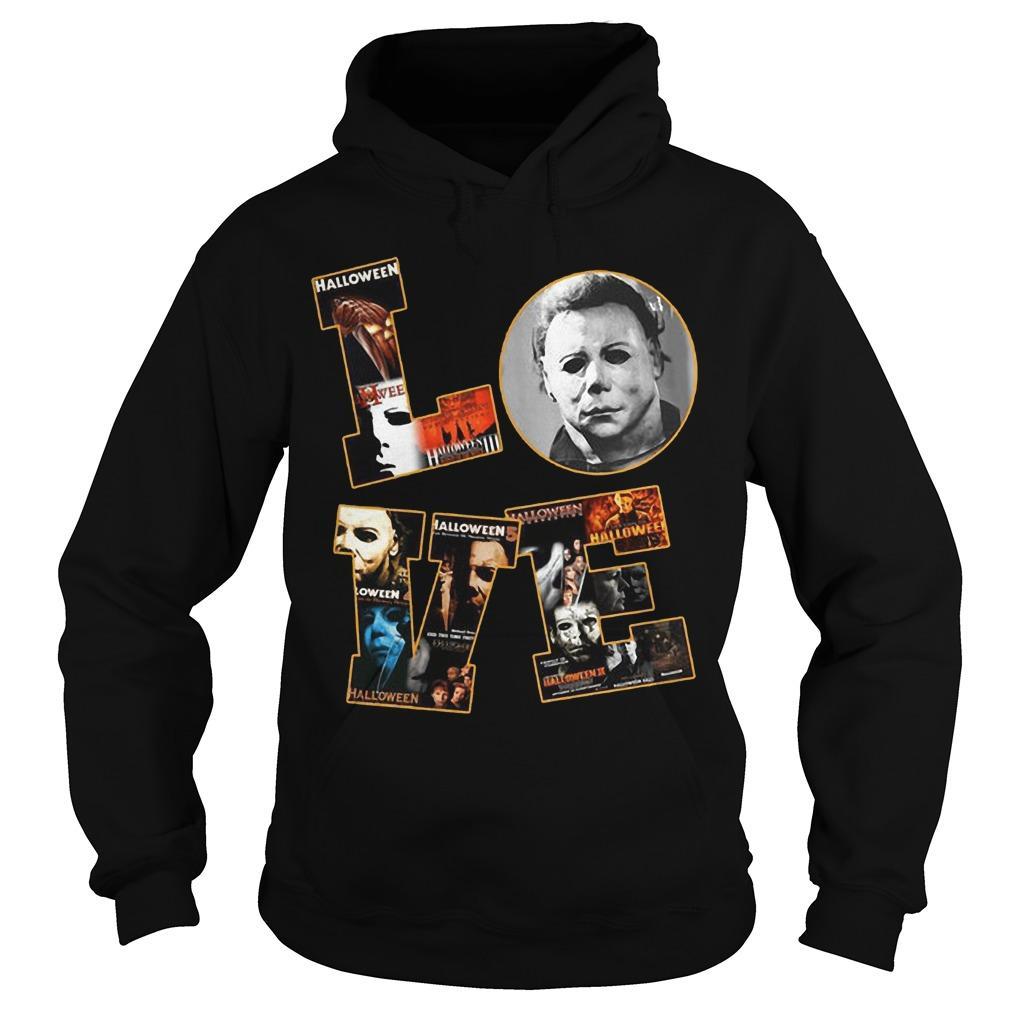 Halloween Michael Myers Love Hoodie