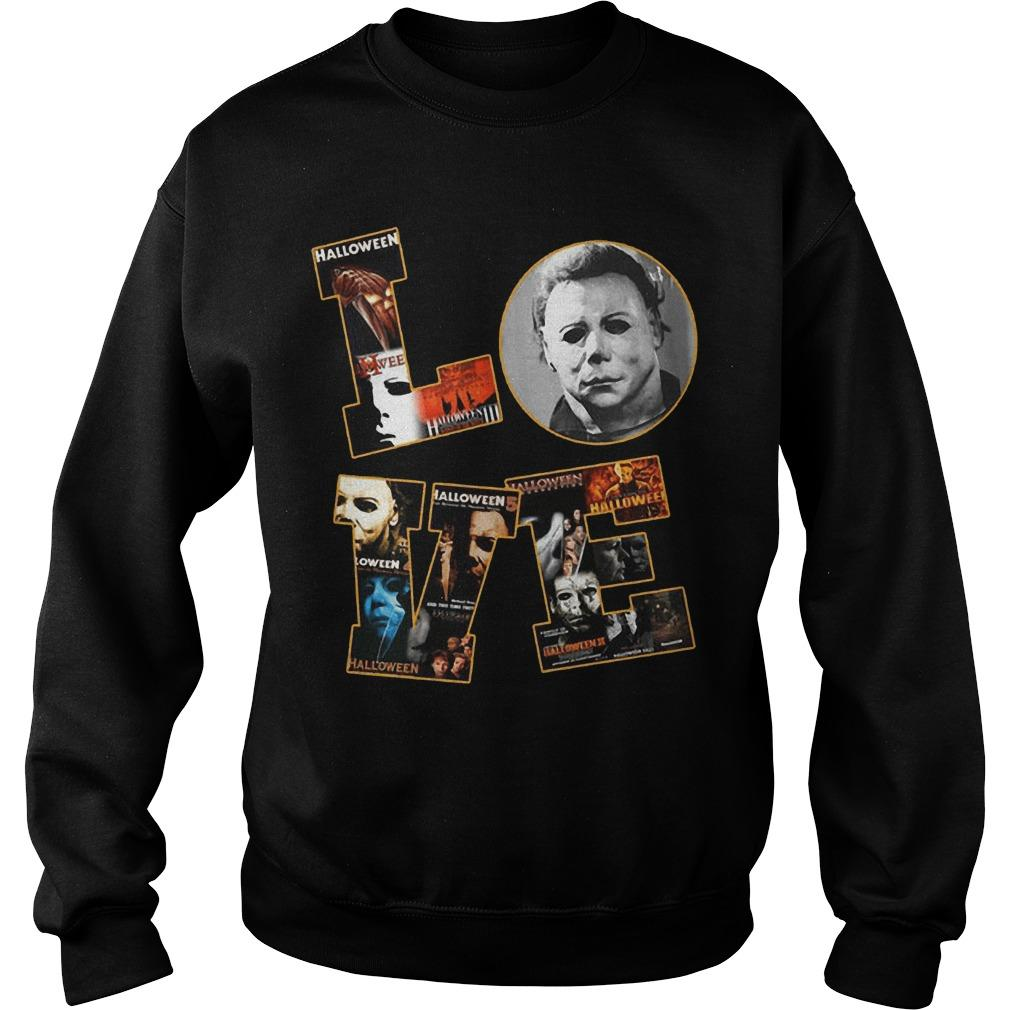 Halloween Michael Myers Love Sweater