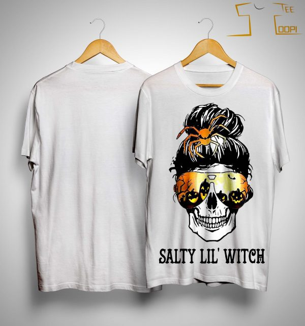 Halloween Skull Salty Lil' Witch Shirt