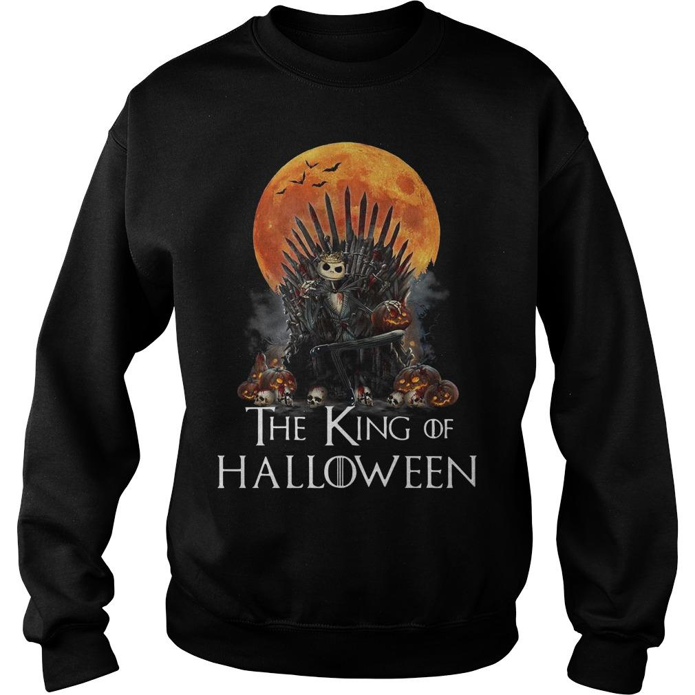 Iron Throne Jack Skellington The King Of Halloween Sweater