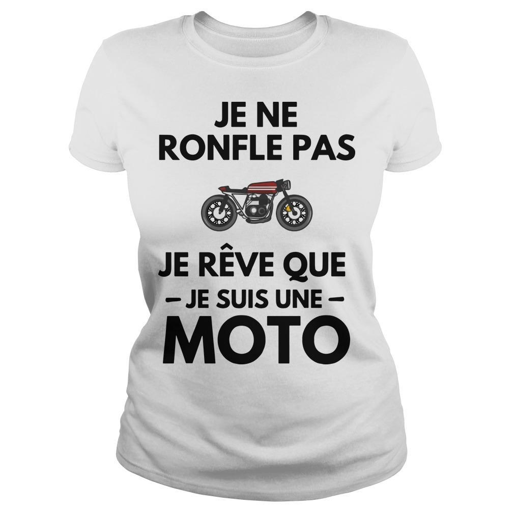 Je Ne Ronfle Pas Je Rêve Que Je Suis Une Moto Longsleeve