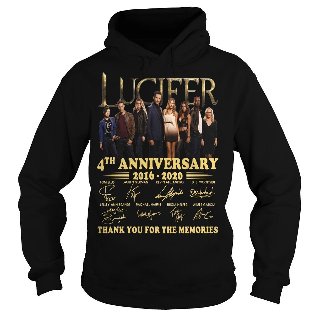 Lucifer 4th Anniversary Thank You For The Memories Hoodie