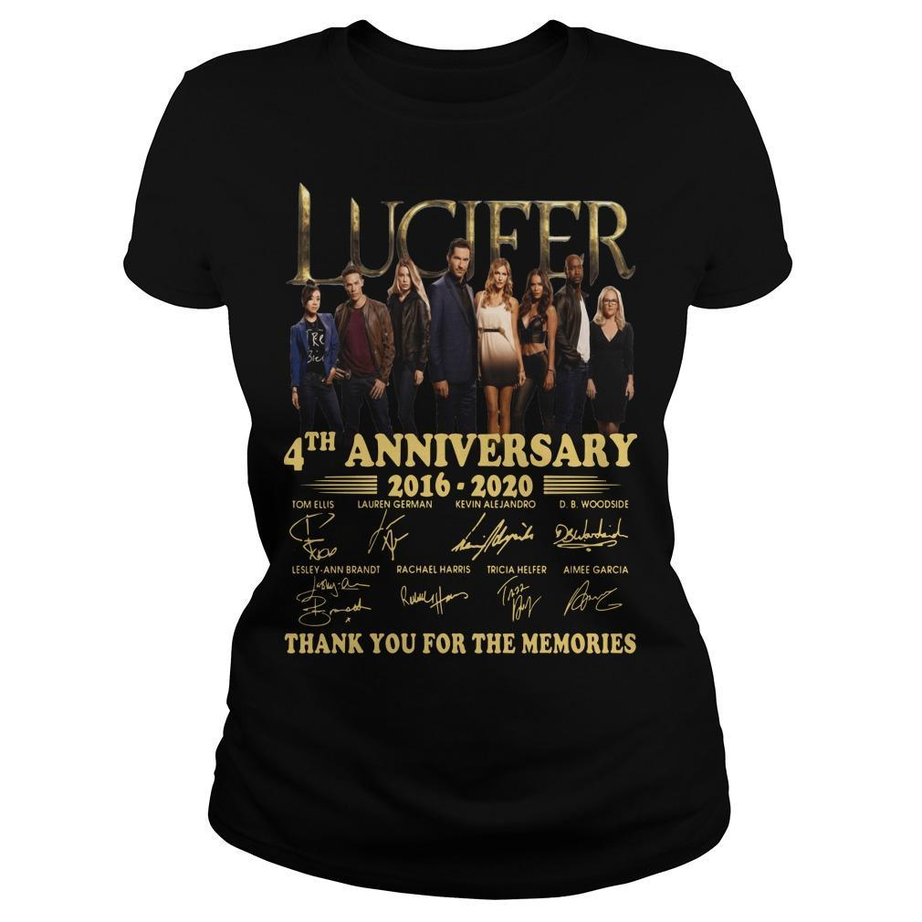 Lucifer 4th Anniversary Thank You For The Memories Longsleeve