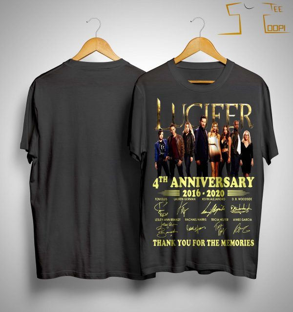 Lucifer 4th Anniversary Thank You For The Memories Shirt