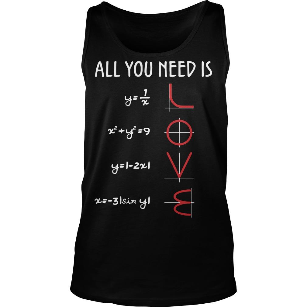 Math All You Need Is Love Tank Top
