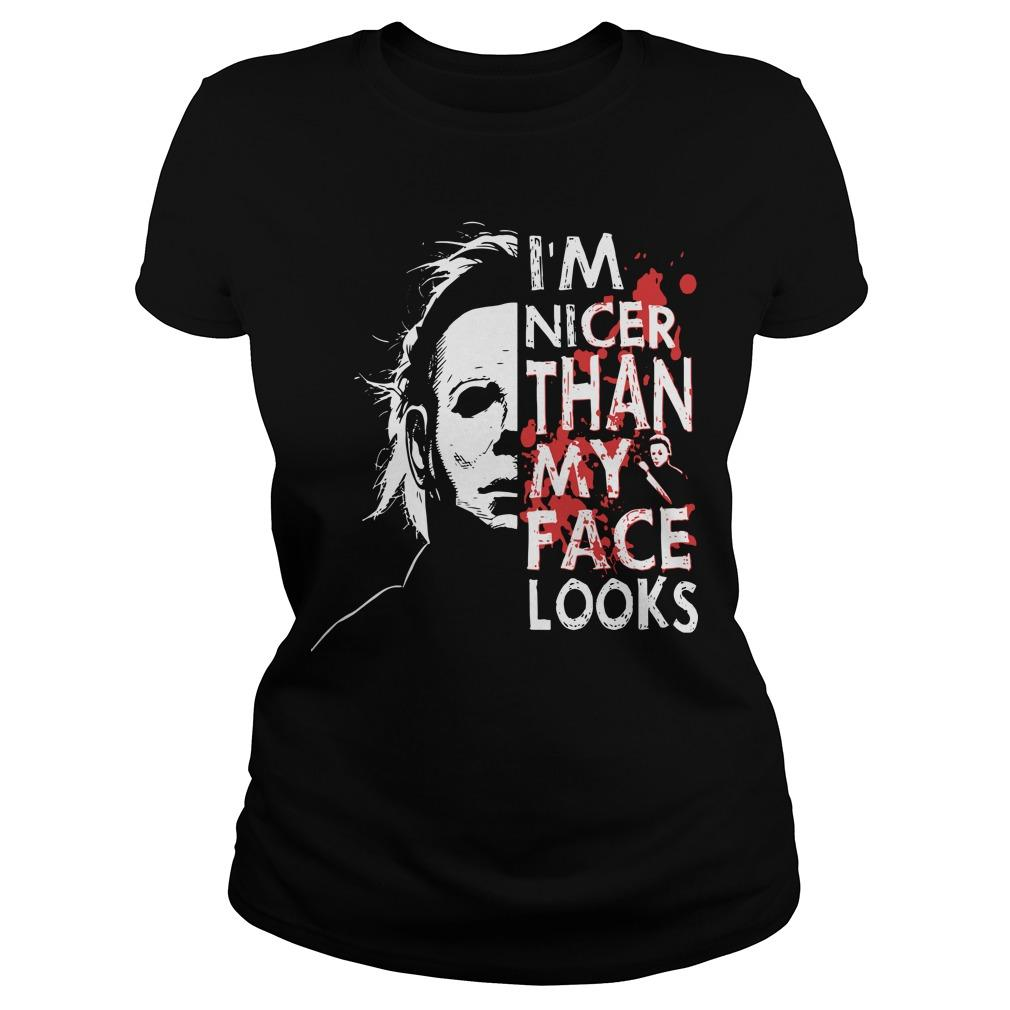 Michael Myers I'm Nicer Than My Face Looks Longsleeve