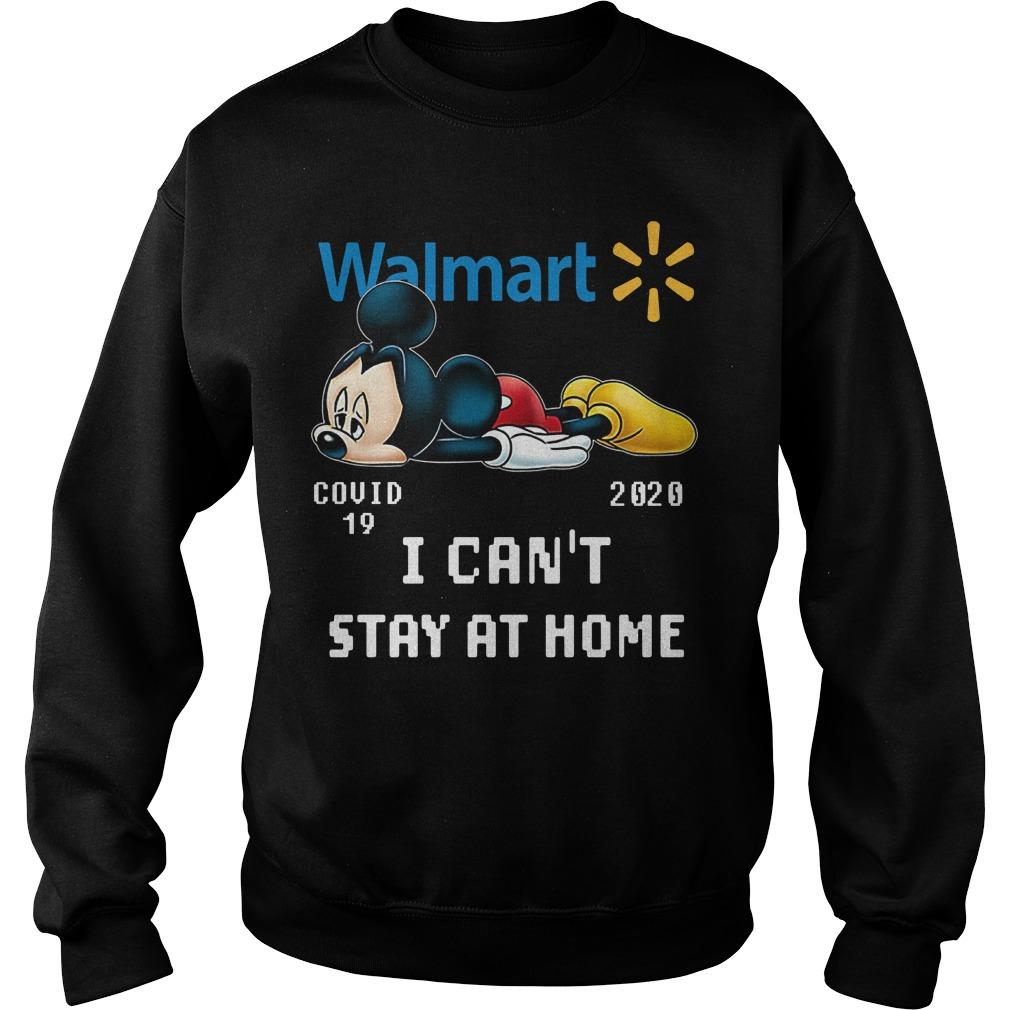 Mickey Mouse Walmart Covid 19 2020 I Can't Stay At Home Sweater