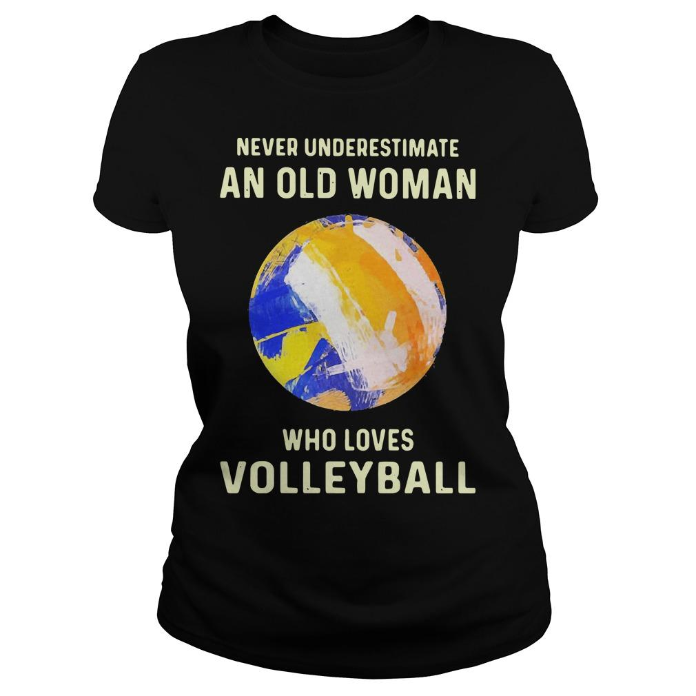 Never Underestimate An Old Woman Who Loves Volleyball Longsleeve