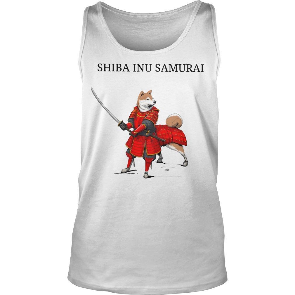 Shiba Inu Samurai Tank Top