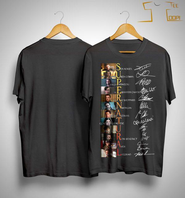 Supernatural Jensen Ackles Lauren Cohan Signature Shirt