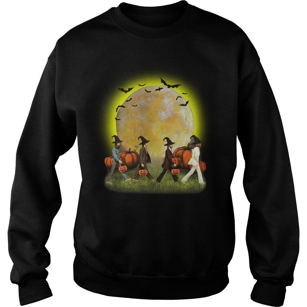 The Beatles Halloween Pumpkin Sweater