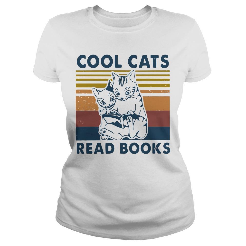 Vintage Cool Cats Read Books Longsleeve
