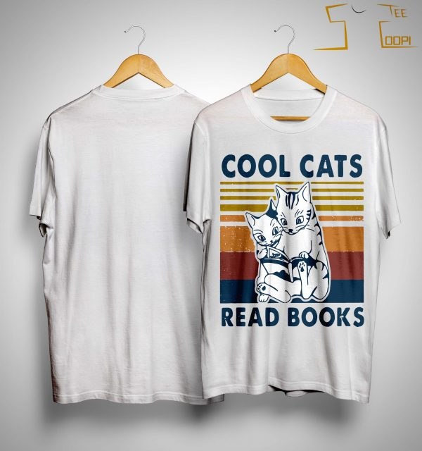 Vintage Cool Cats Read Books Shirt