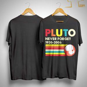 Vintage Pluto Never Forget 1930 2006 Shirt