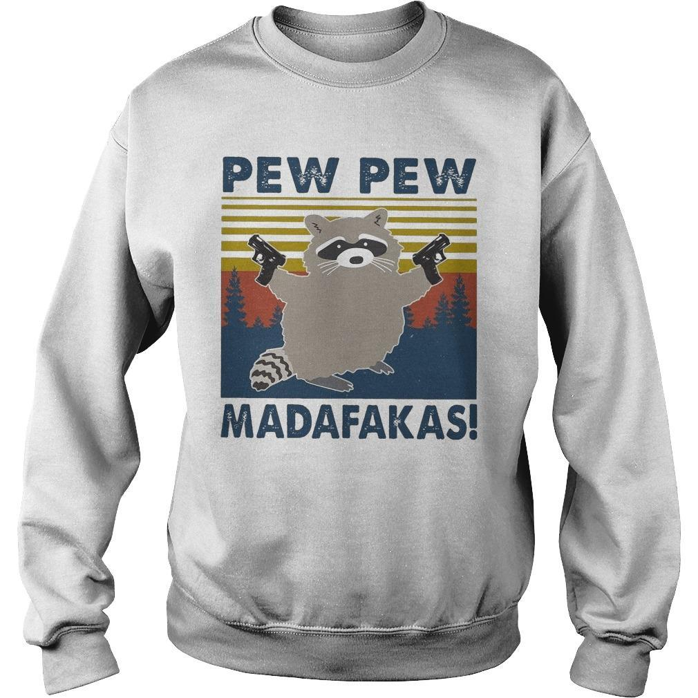 Vintage Raccoon Pew Pew Madafakas Sweater