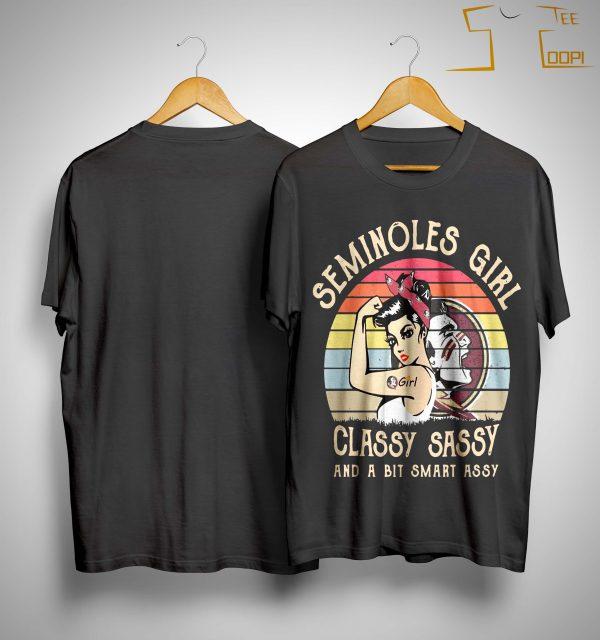 Vintage Seminoles Girl Classy Sassy And A Bit Smart Assy Shirt