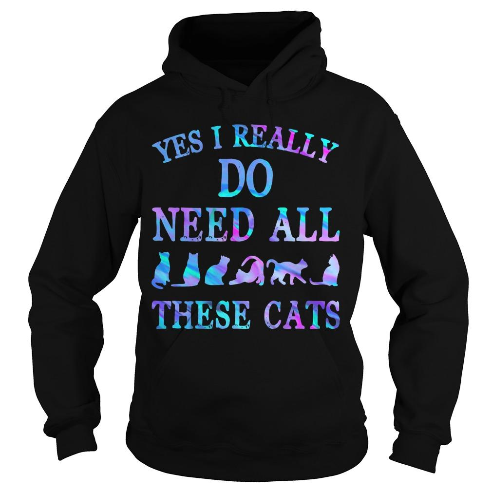 Yes I Really Do Need All These Cats Hoodie