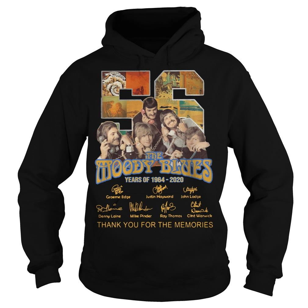 56 Years Of The Moody Blues Thank You For The Memories Hoodie