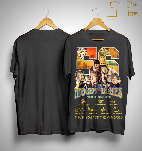 56 Years Of The Moody Blues Thank You For The Memories Shirt