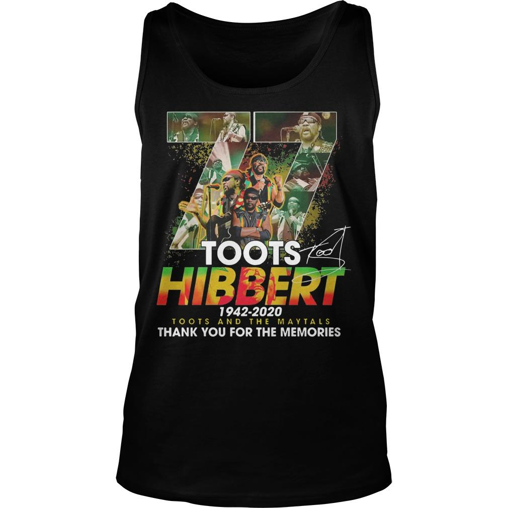77 Toots Hibbert 1942 2020 Toots And The Maytals Tank Top