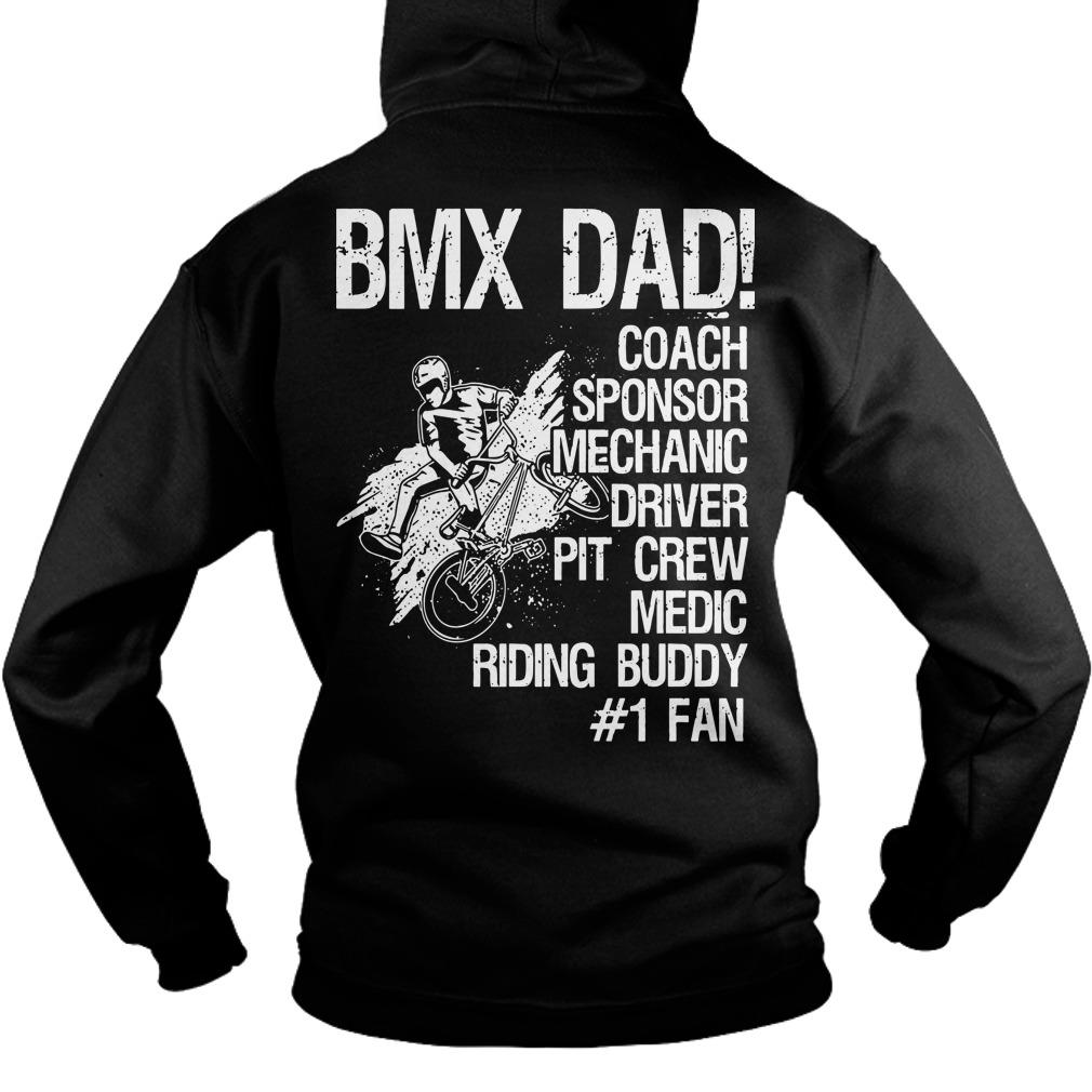 Bmx Dad Coach Sponsor Mechanic Driver Pit Crew Hoodie