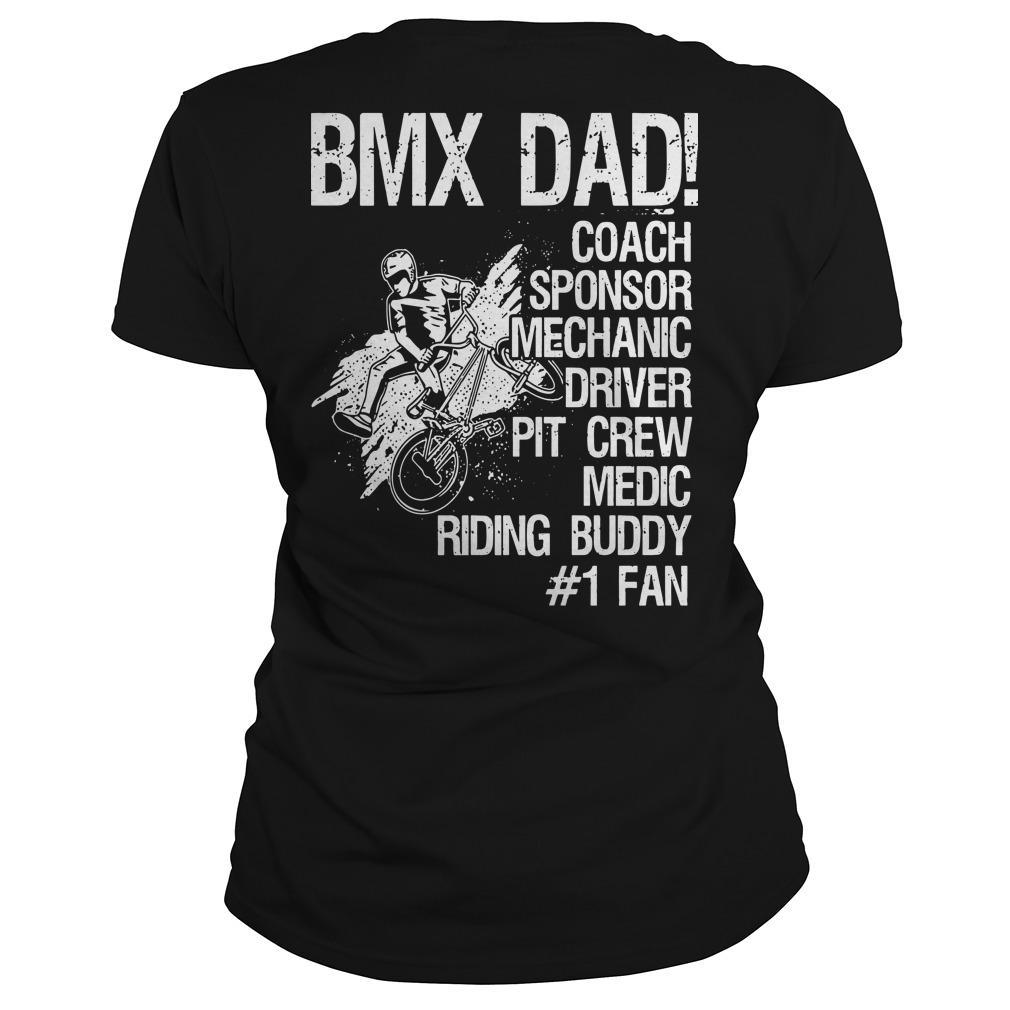 Bmx Dad Coach Sponsor Mechanic Driver Pit Crew Longsleeve