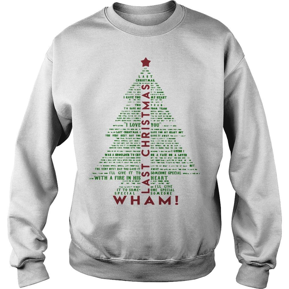 Christmas Tree Wham Last Christmas Sweater