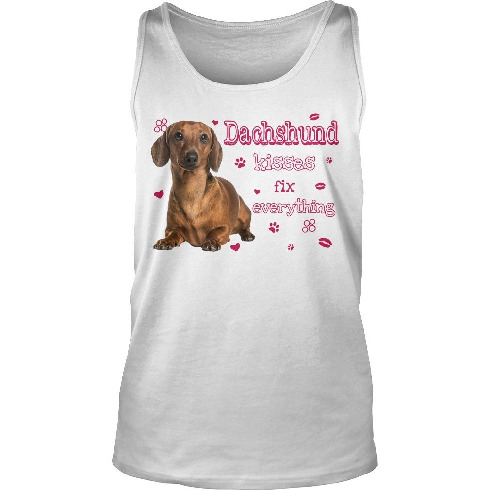 Dachshund Kisses Fix Everything Tank Top