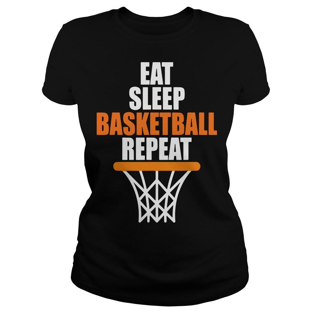 Eat Sleep Basketball Repeat Longsleeve