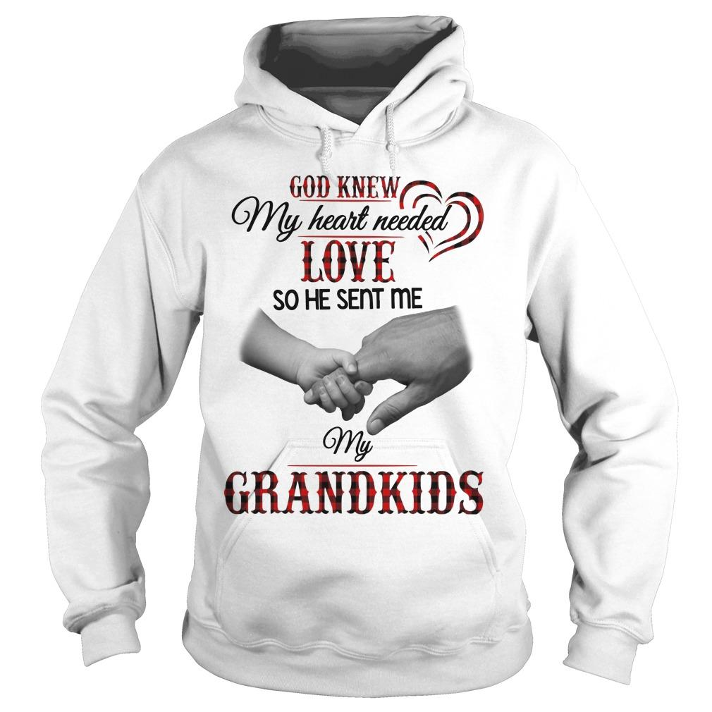 God Knew My Heart Needed Love So He Sent Me My Grandkids Hoodie
