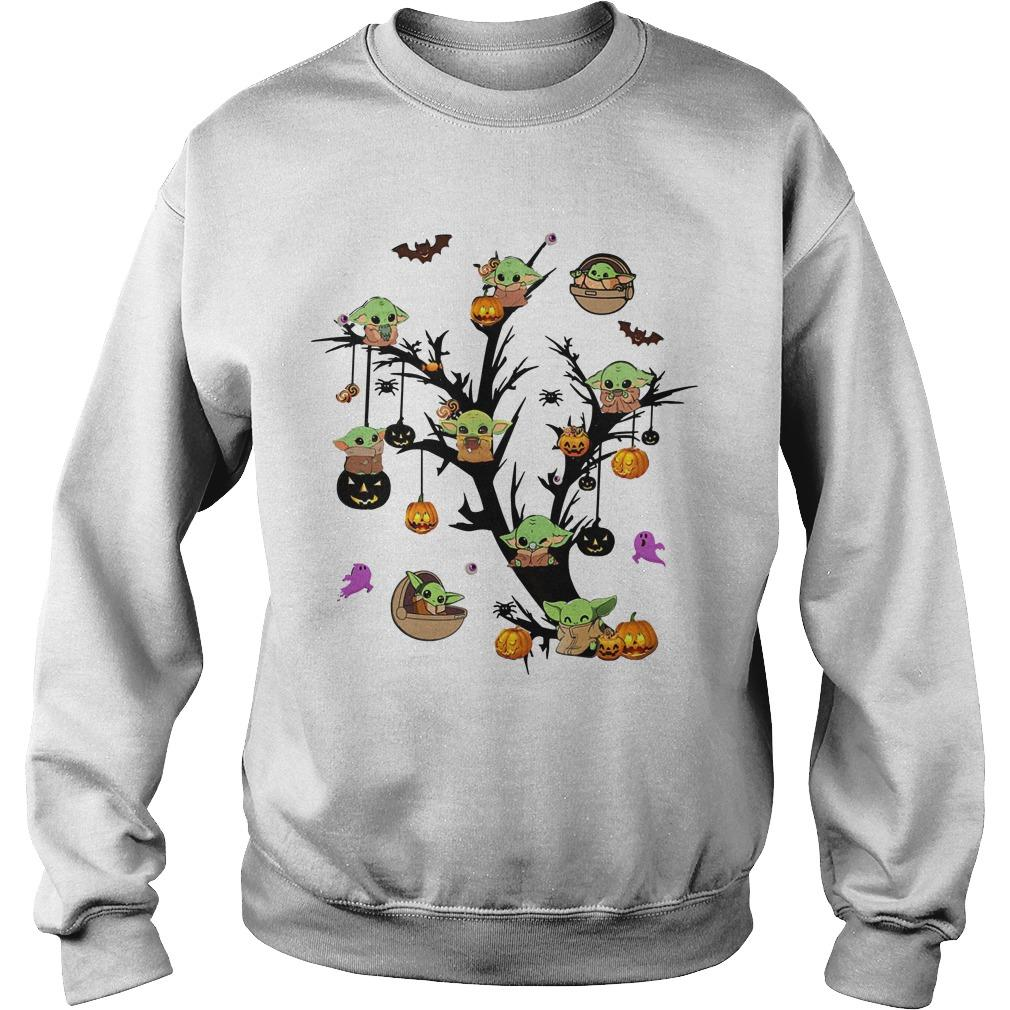 Halloween Baby Yoda Pumpkin Sweater
