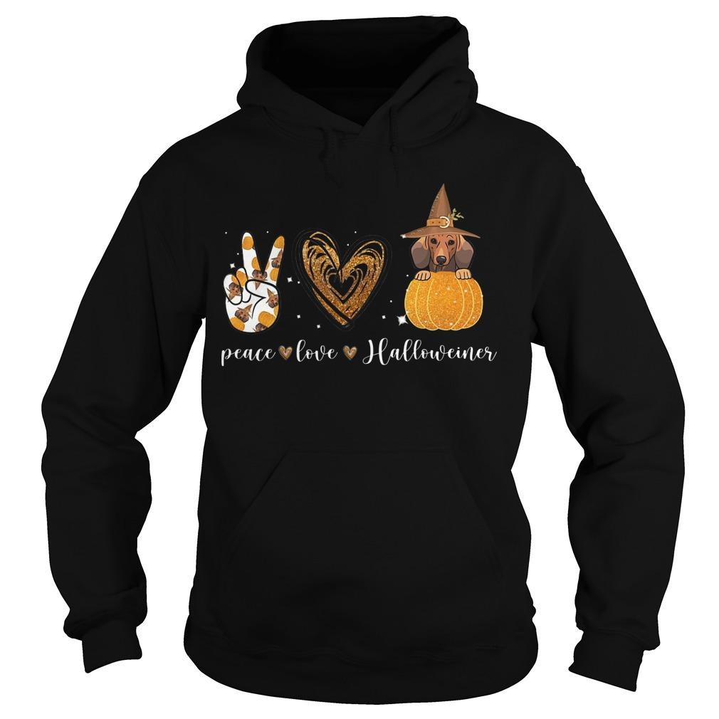 Halloween Peace Love Halloweiner Hoodie