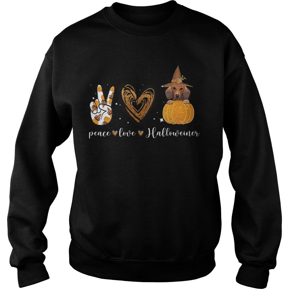 Halloween Peace Love Halloweiner Sweater