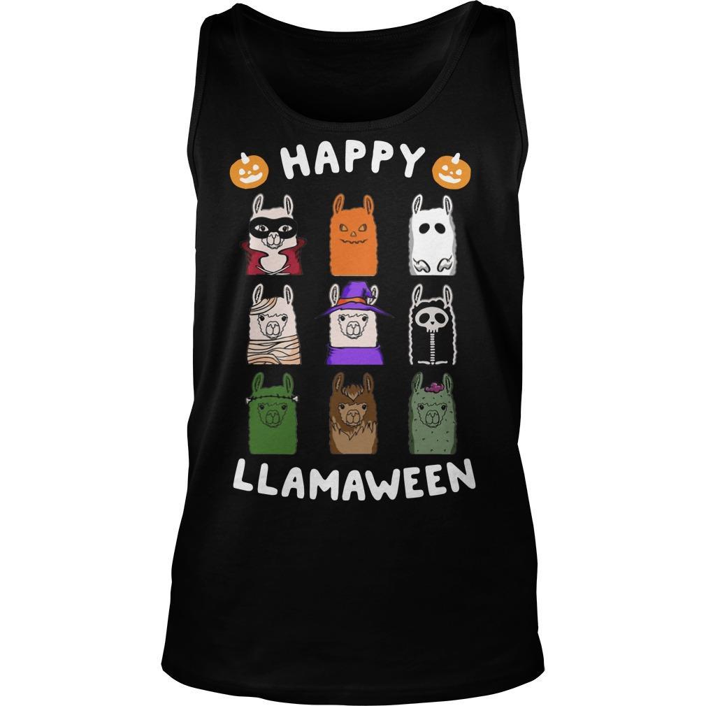 Happy Llamaween Tank Top