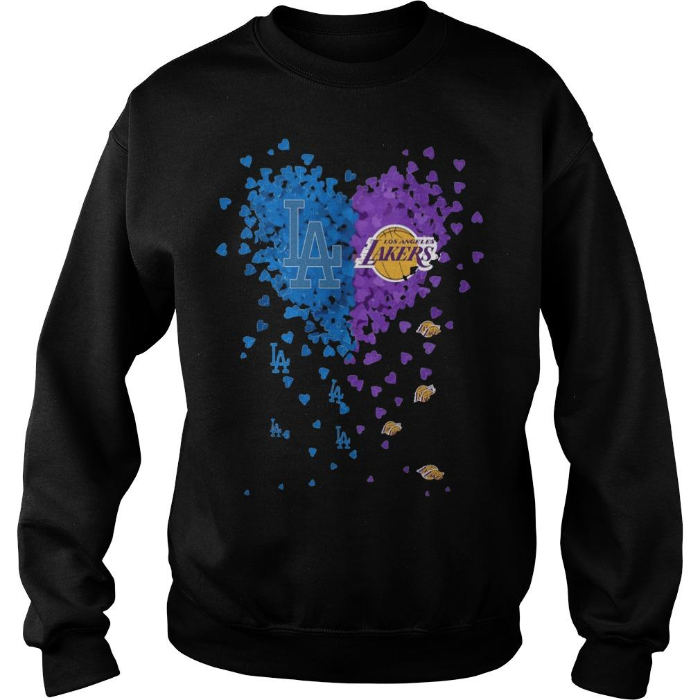 Heart Los Angeles And Los Angeles Lakers Sweater