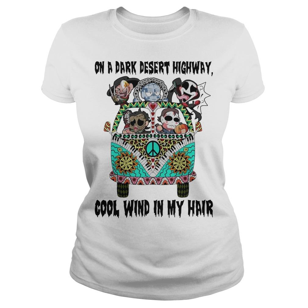 Horror Character Hippie Drive On A Dark Desert Highway Cool Wind My Hair Longsleeve