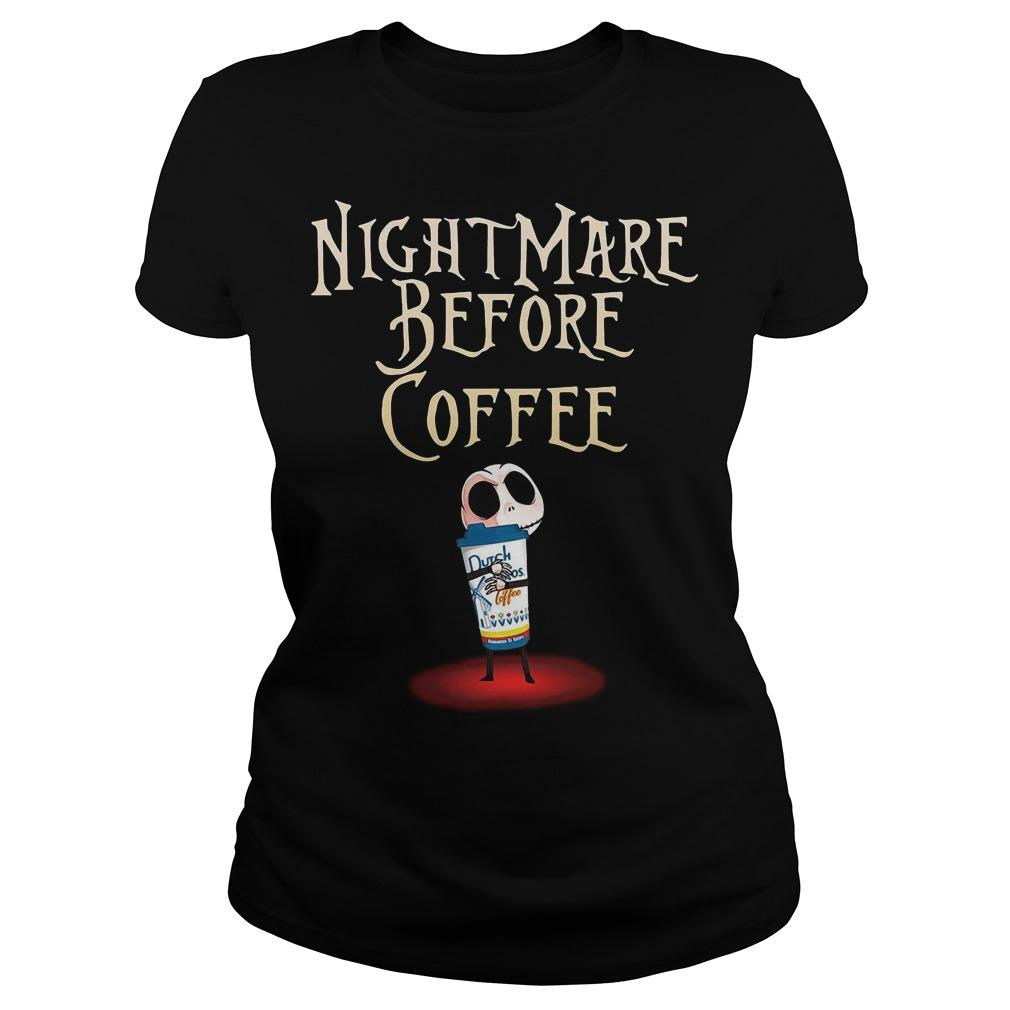 Jack Skellington Dutch Bros Coffee Nightmare Before Coffee Longsleeve