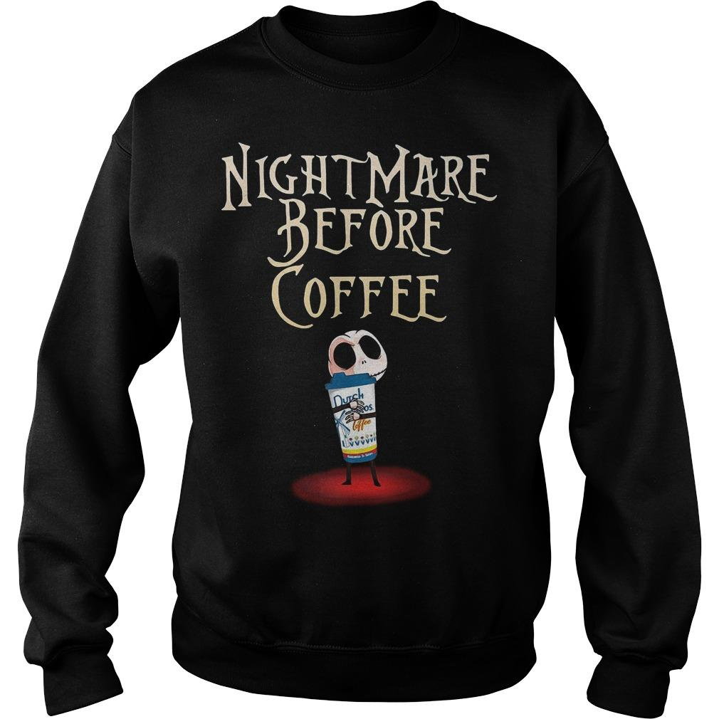 Jack Skellington Dutch Bros Coffee Nightmare Before Coffee Sweater