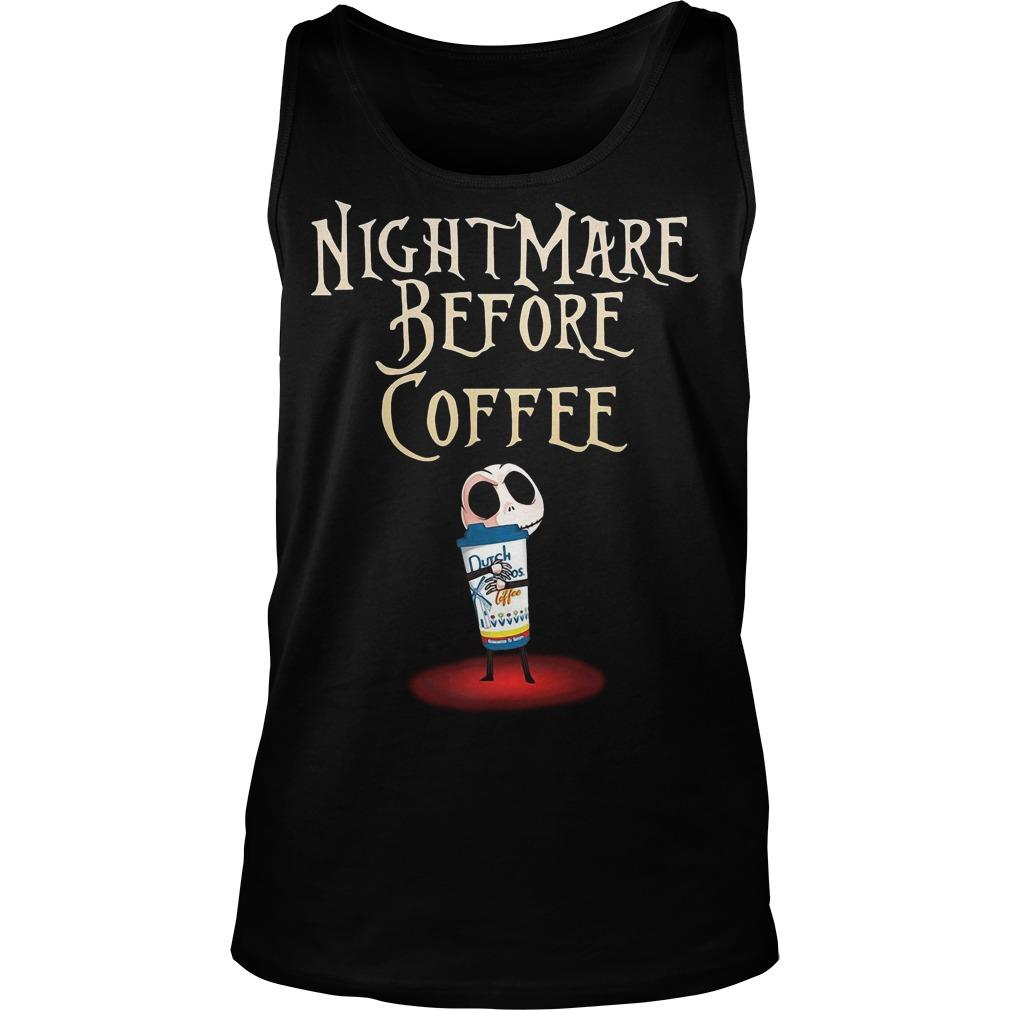 Jack Skellington Dutch Bros Coffee Nightmare Before Coffee Tank Top