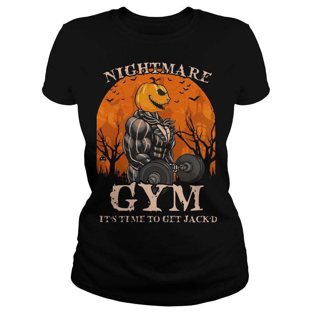 Jack Skellington Nightmare Gym It's Time To Get Jack'd Longsleeve