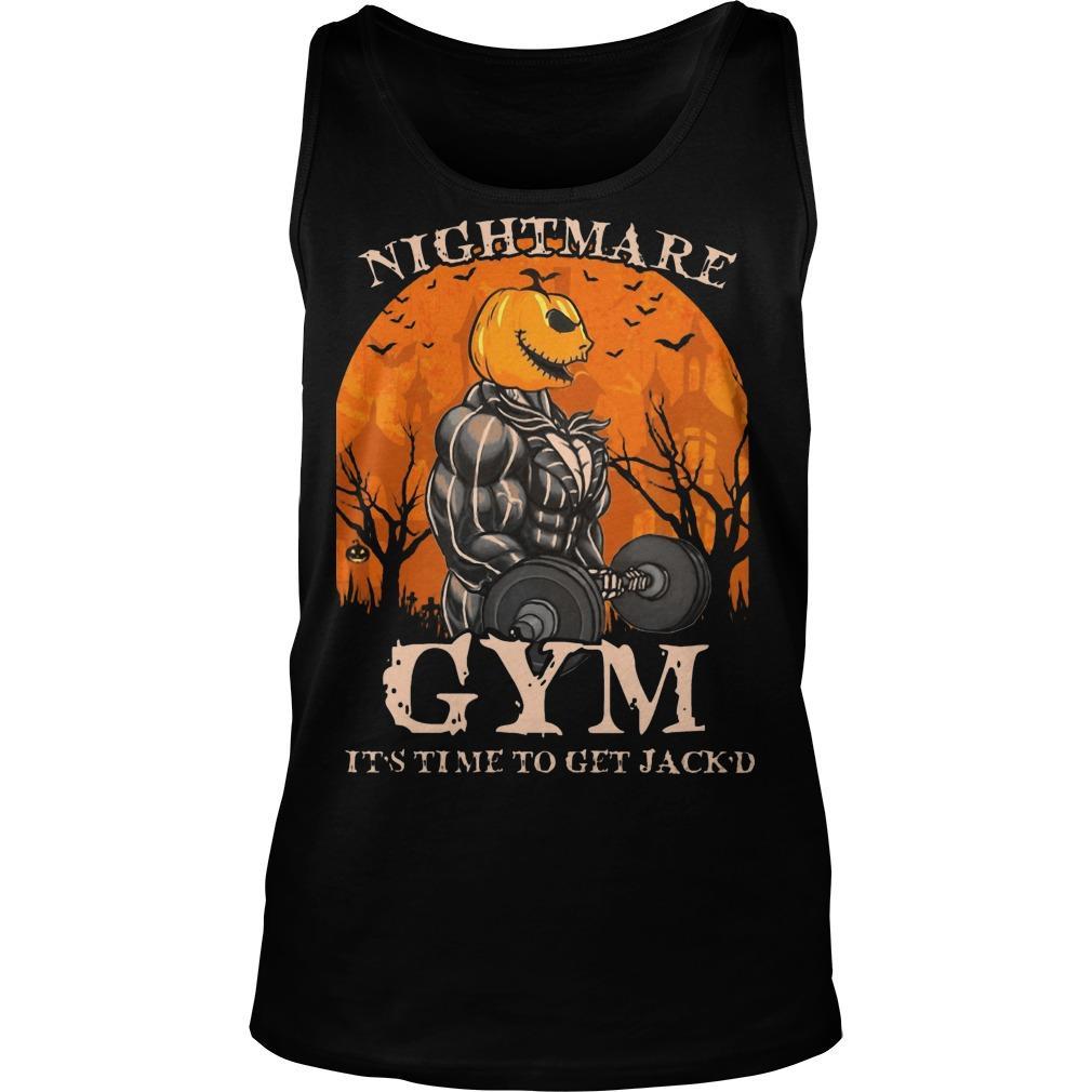 Jack Skellington Nightmare Gym It's Time To Get Jack'd Tank Top