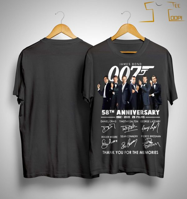 James Bond 007 58th Anniversary Thank You For The Memories Shirt