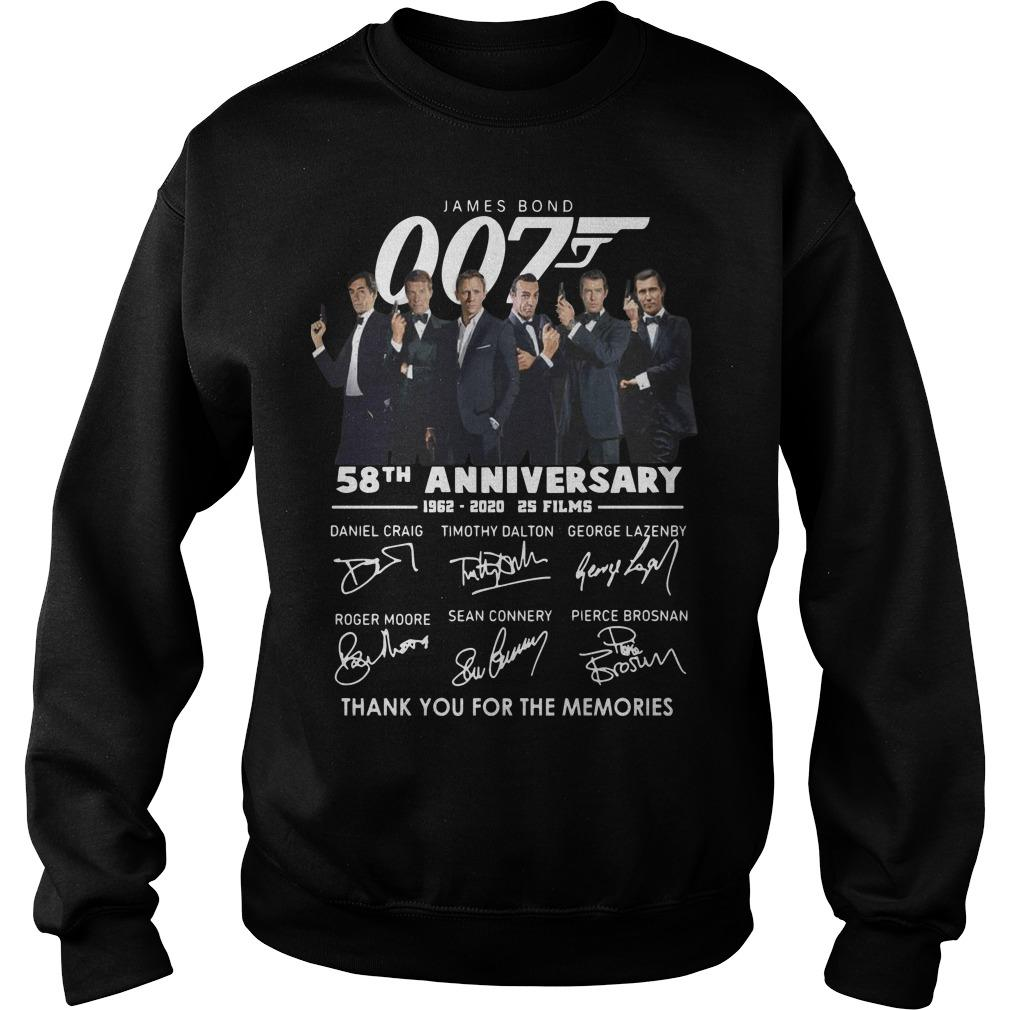 James Bond 007 58th Anniversary Thank You For The Memories Sweater