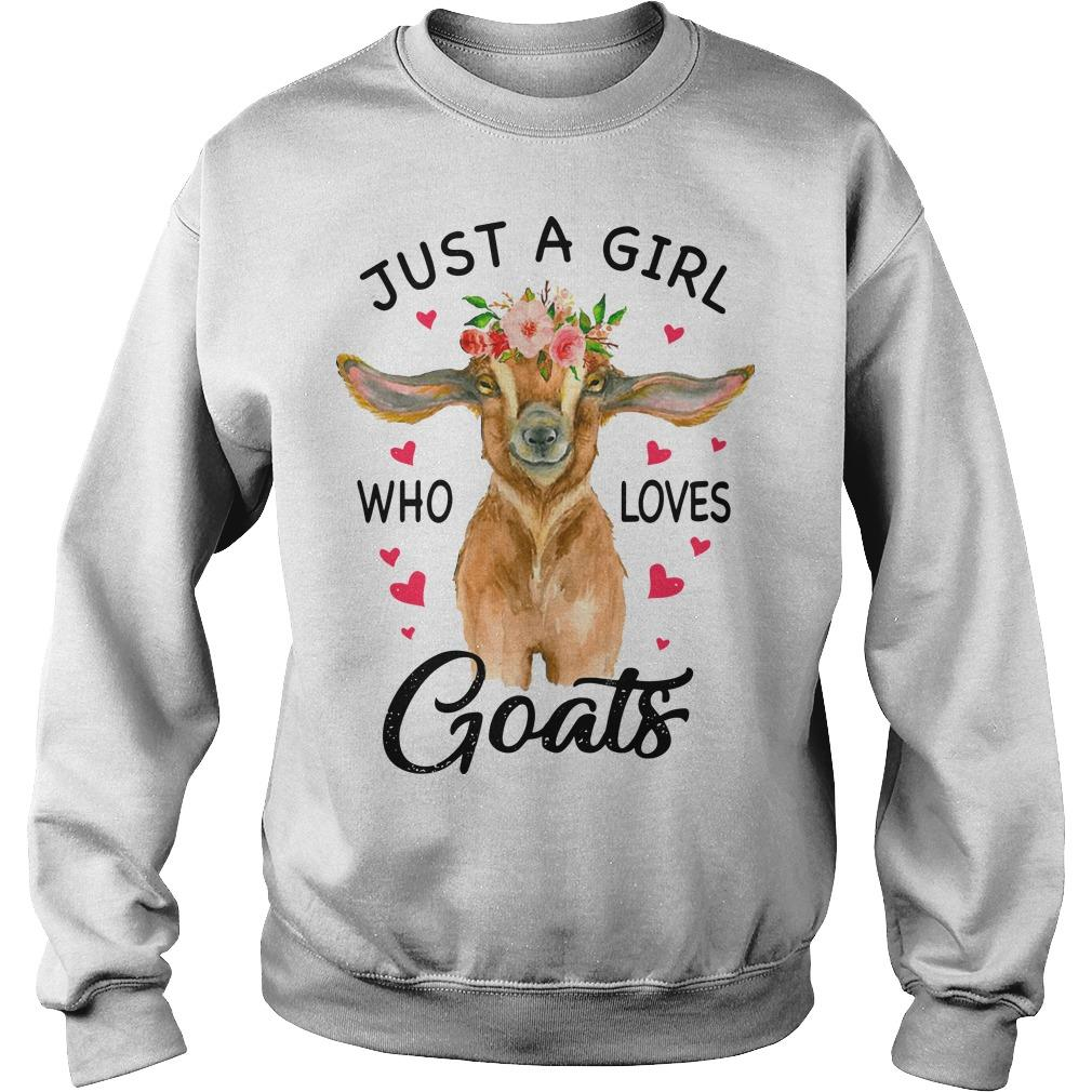 Just A Girl Who Loves Goats Sweater