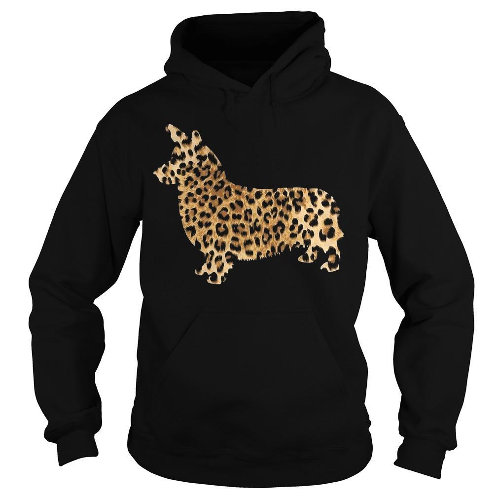 Leopard Print Corgi Hoodie
